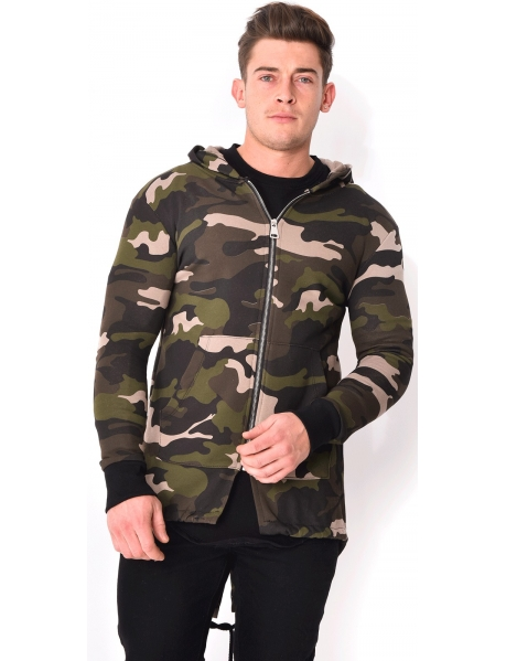 Camouflage Sweatshirt with Hood