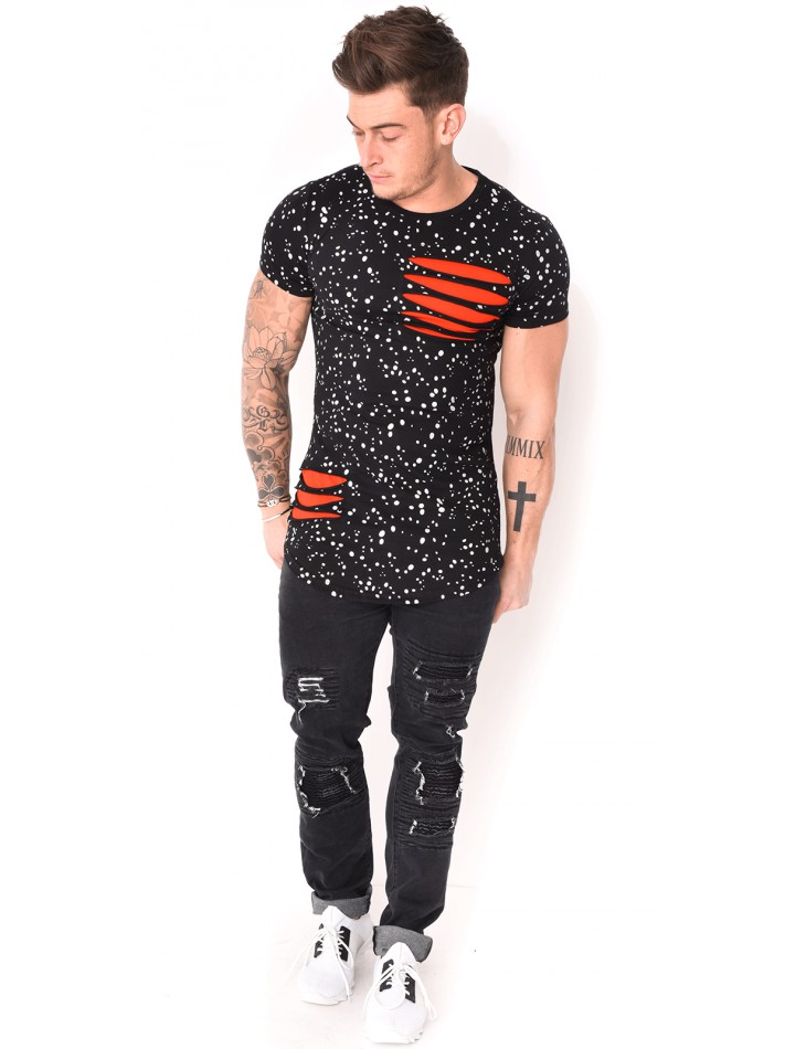 Ripped Spotted T-shirt