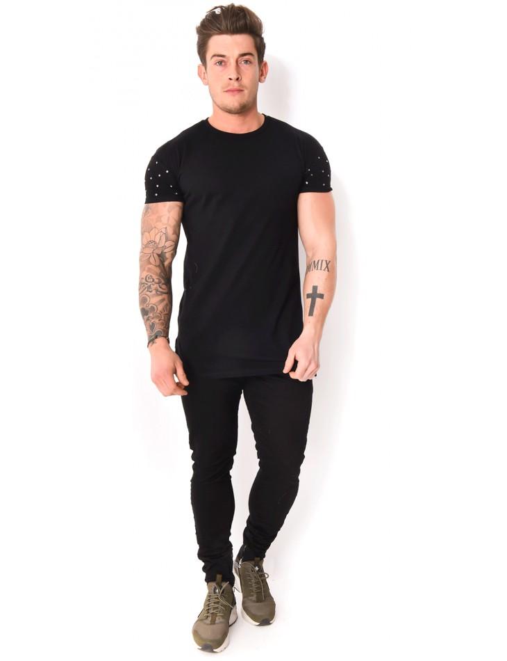 Jeans slim Project X froissé à zip