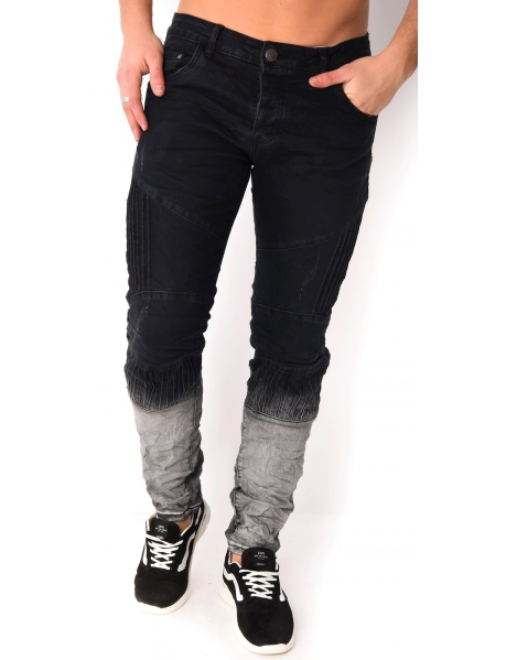 Jeans homme motard tie and dye