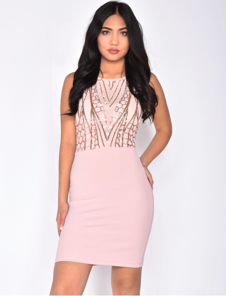 Bodycon Dress with Sequins