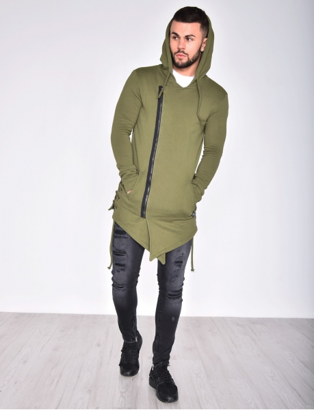 Oversized Zipped Jacket with Hood