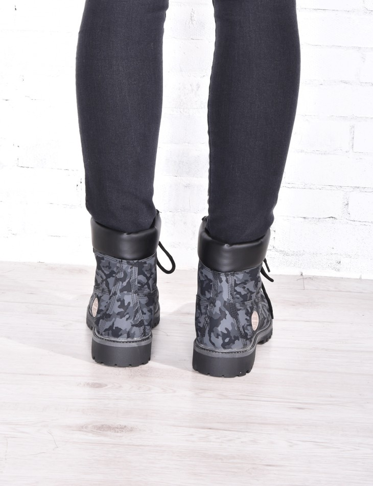 BOTTINES CAMOUFLAGES NOIR