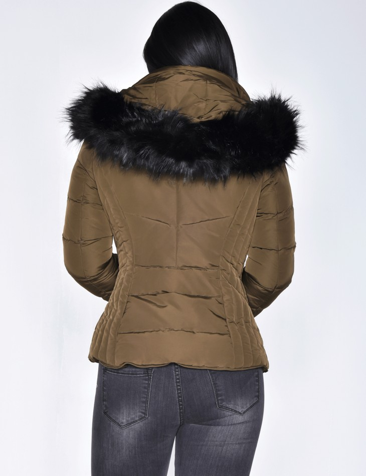 Faux Fur Padded Jacket with Hood
