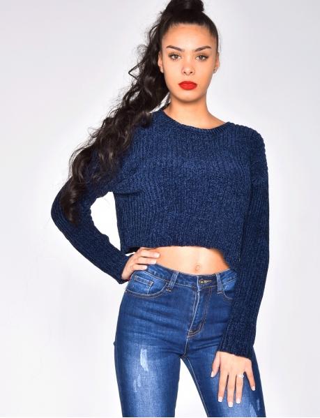 Chenille-Pullover, sehr weich