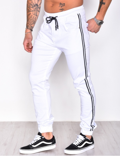 Jogging Bottoms with Black Stripes