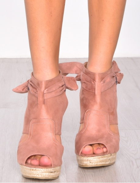 Suedette Wedge Sandals