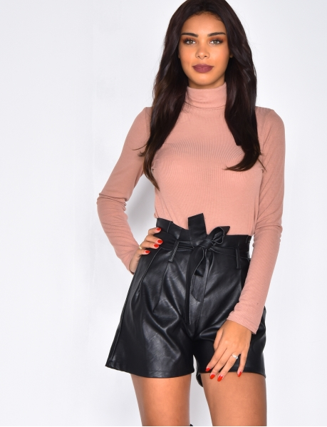 Fine Polo Neck Jumper with Long Sleeves