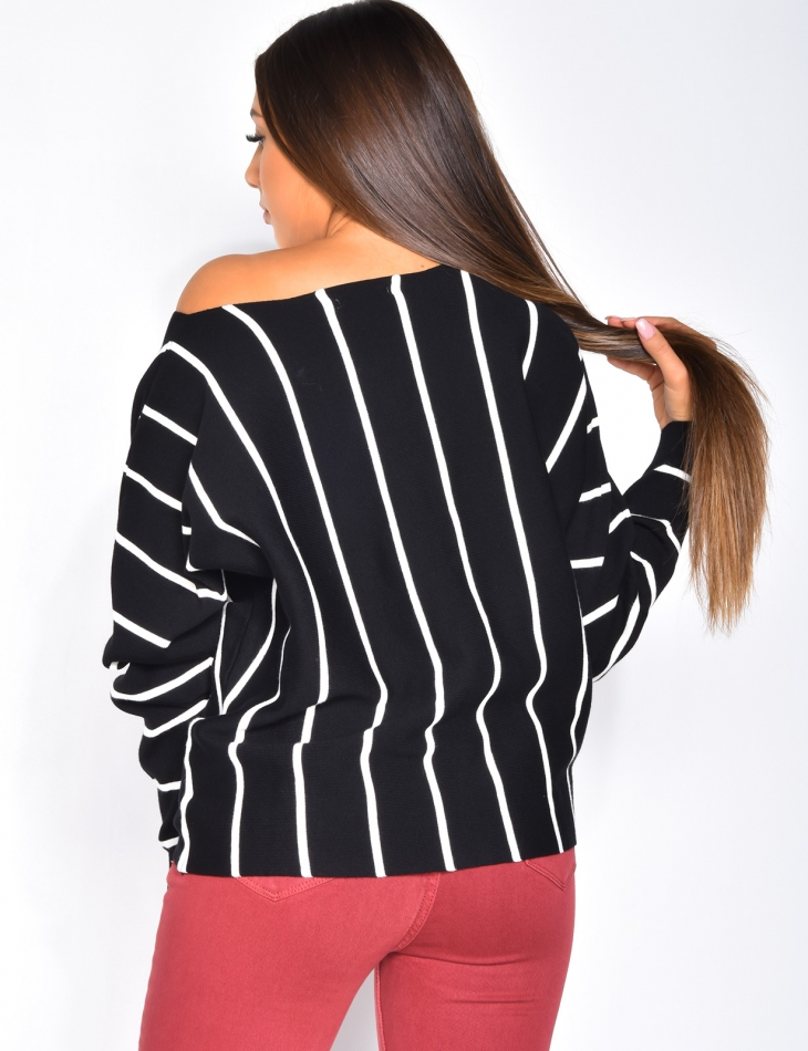 Pull oversize à rayures