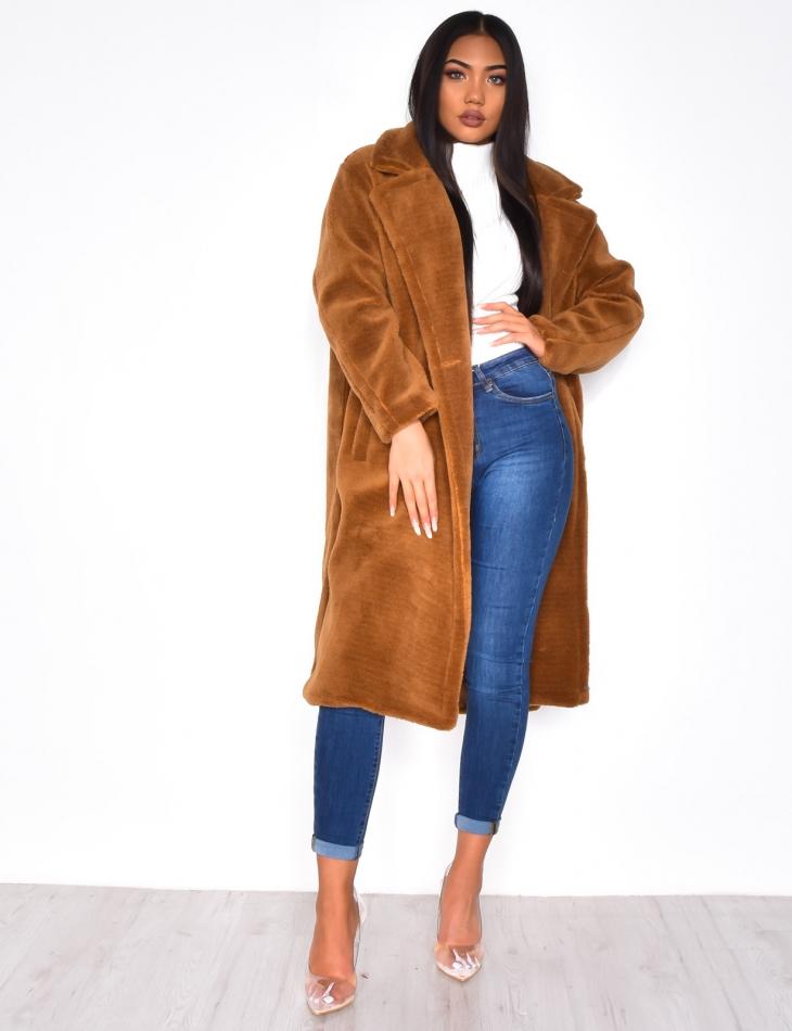 manteaux en fausse fourrure long femme
