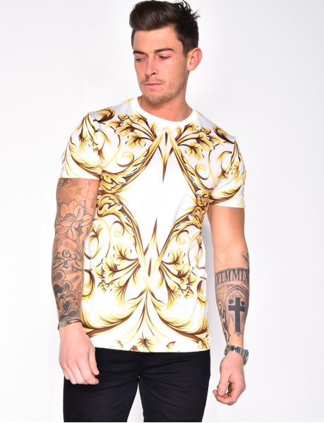 T-shirt à motifs baroques