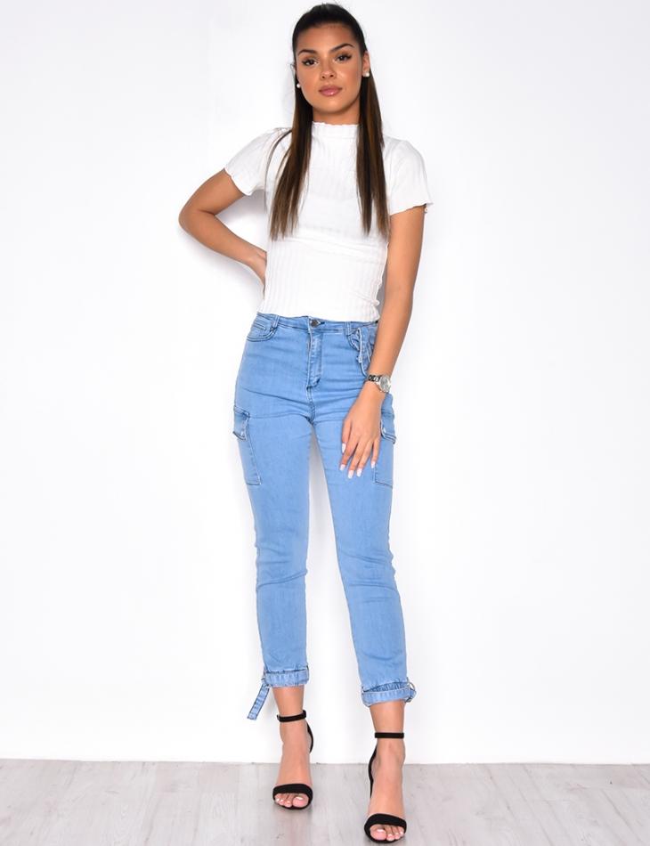 Jeans skinny à poches