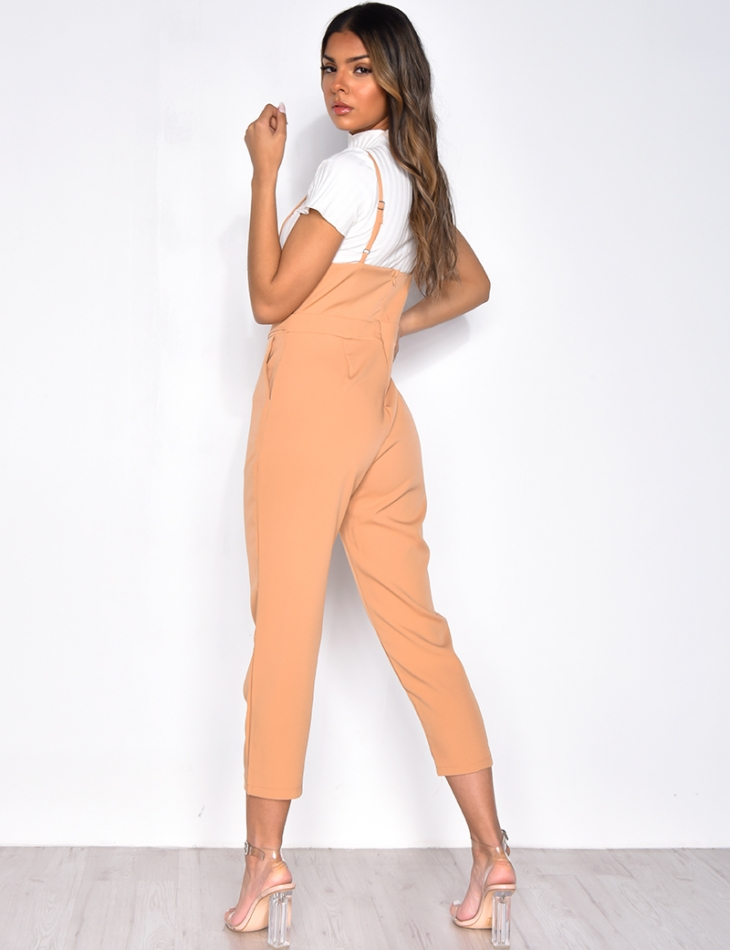 Jumpsuit with Straps, 7/8th Length