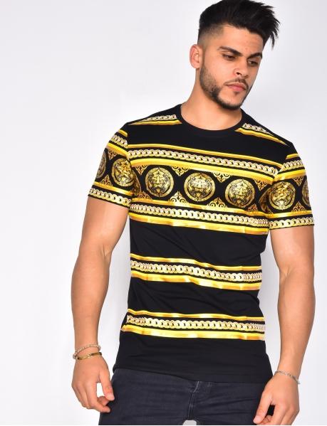 T-shirt à motifs baroque