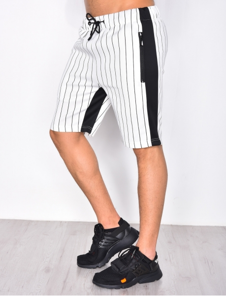 Striped Shorts with Bands