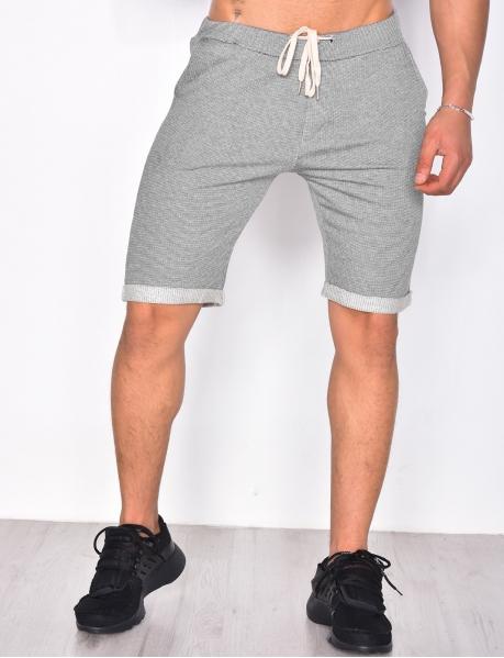 Fine Striped Bermuda Shorts