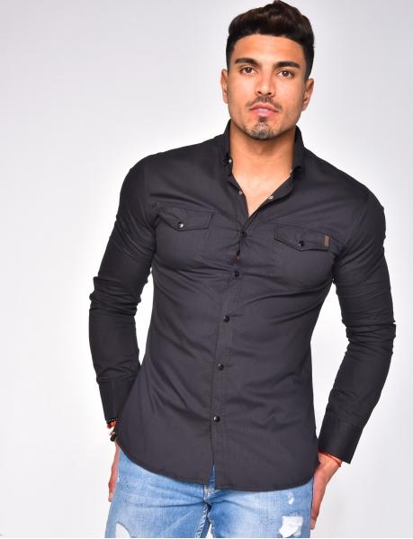 Chemise légère à poches