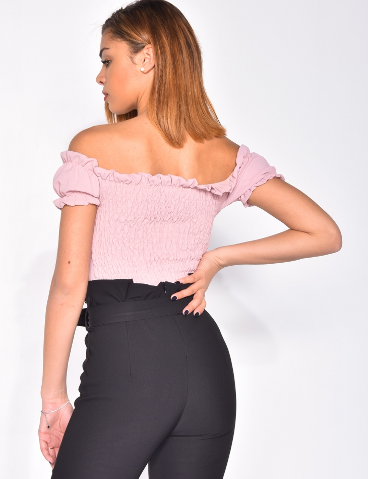 Crop Top with Buttons