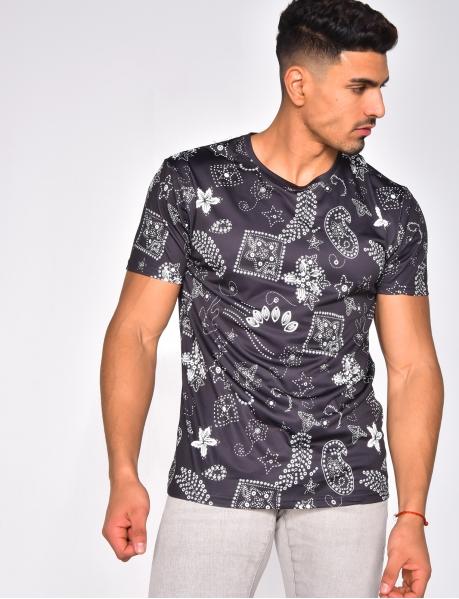 T-shirt à motifs
