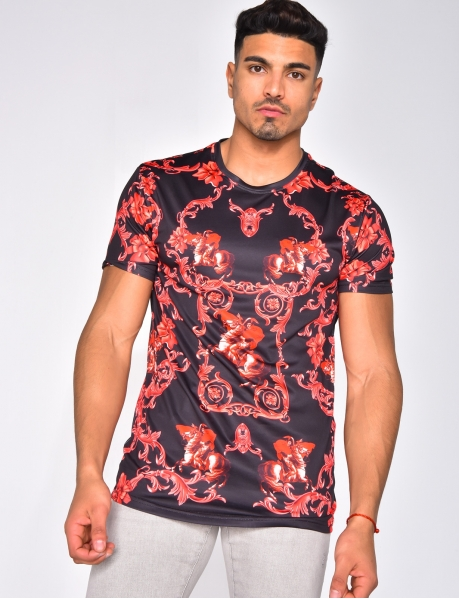 T-shirt with Baroque Pattern
