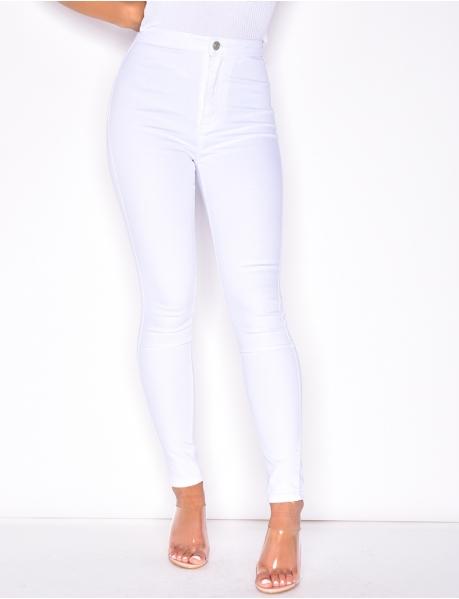 High Waisted Basic Jeans