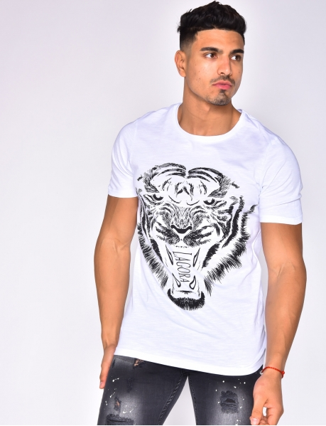 "T-shirt ""LAGORA"" tête de tigre"