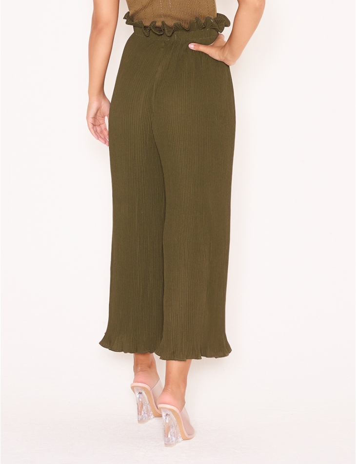 Textured Flared Trousers