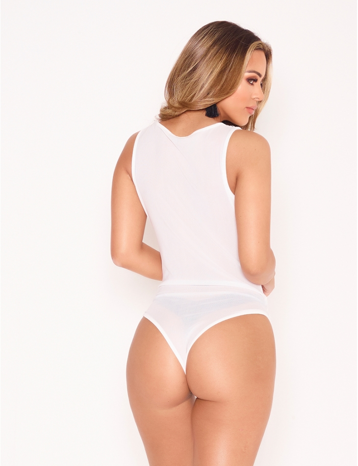 Voile and Lace Bodysuit