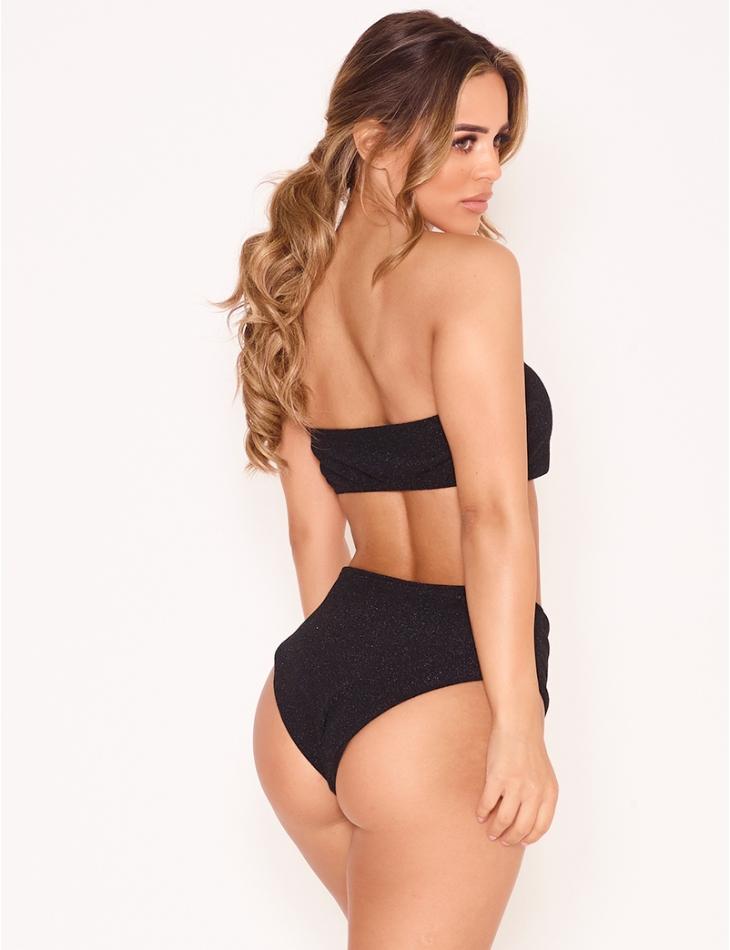 Bikini taille haute brillant
