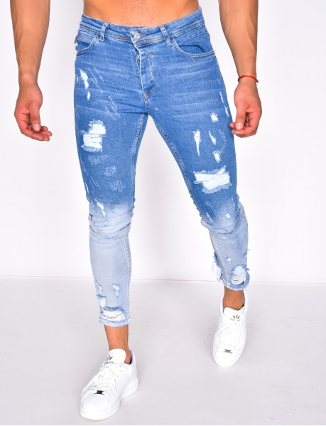 Ripped Ombré Jeans