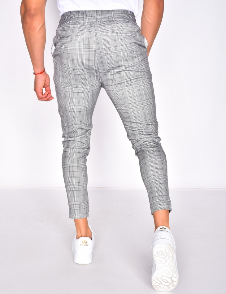 Checked Jogging Bottoms