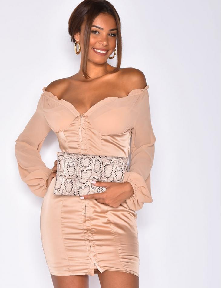 Romantic Dress in Satin & Voile