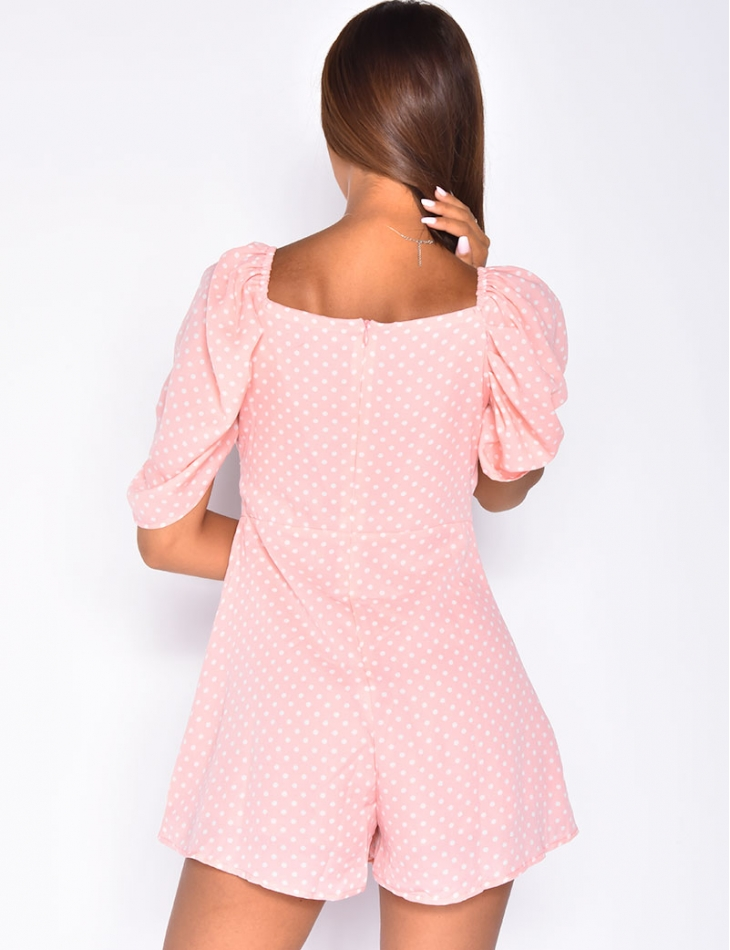 Playsuit with Polka Dots
