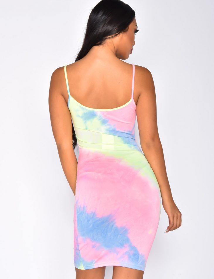 Robe moulante multicolor