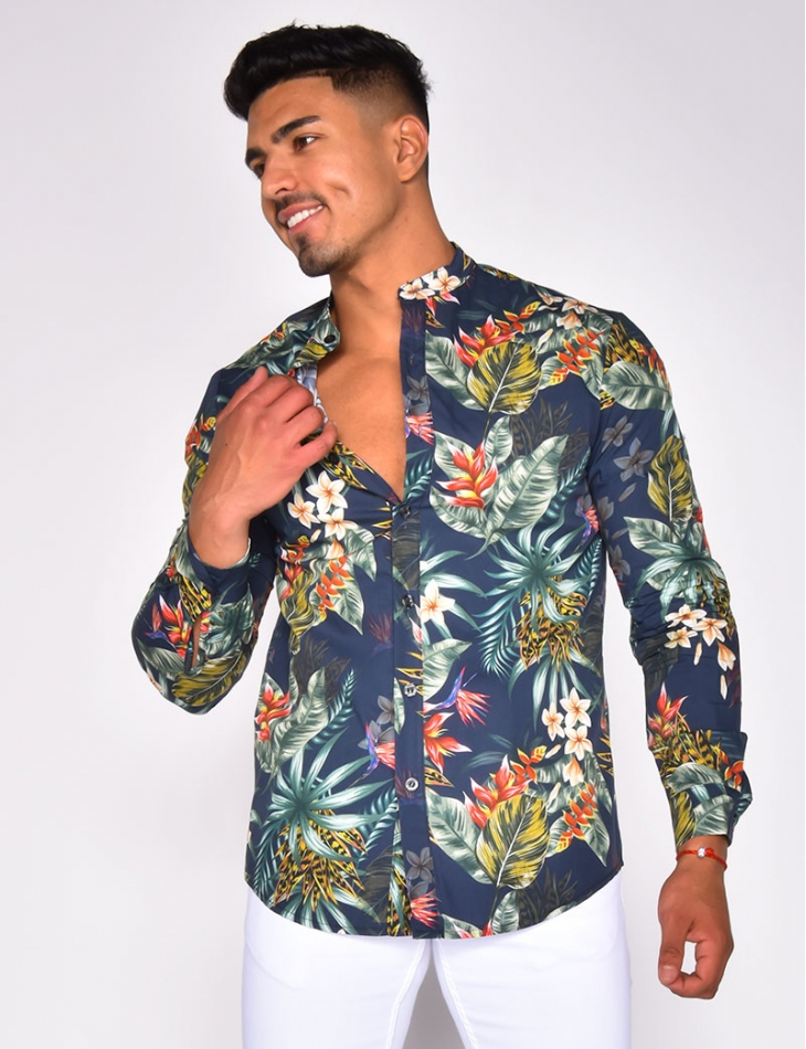 Shirt with Leaf Pattern