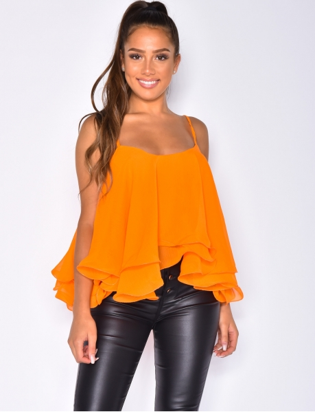 Loose Fit Voile Vest Top