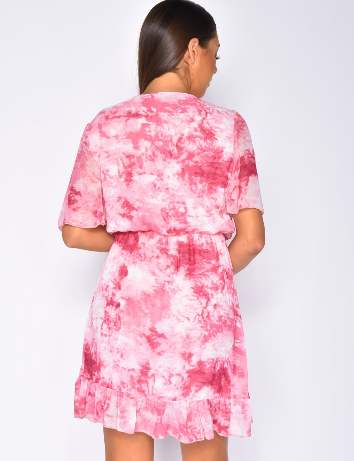 Faded Ruffle Dress