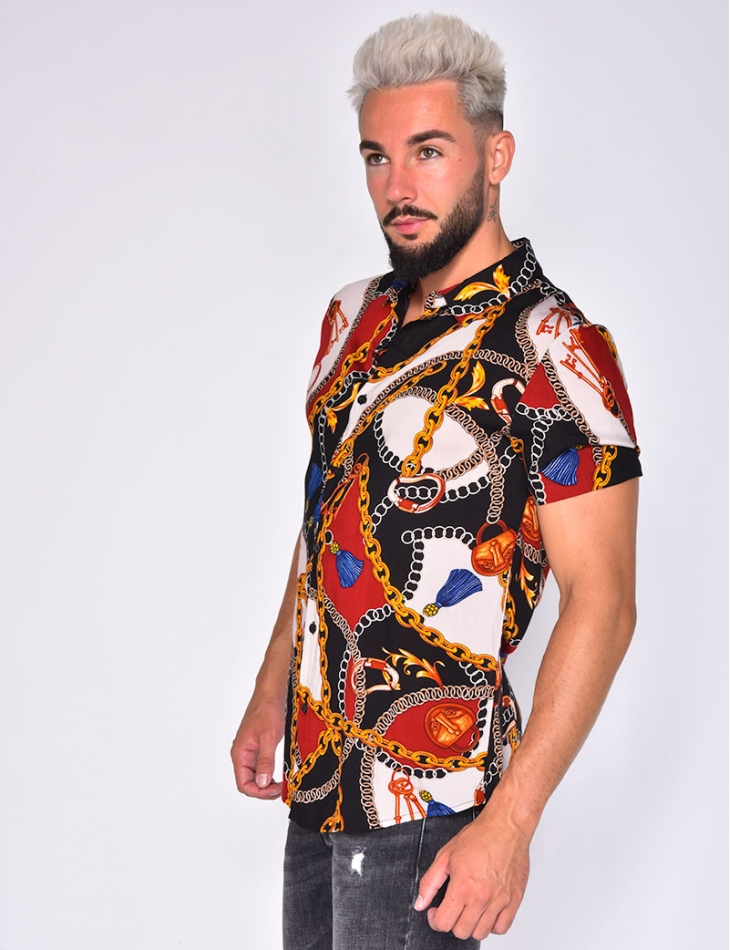 Shirt with Chain Pattern