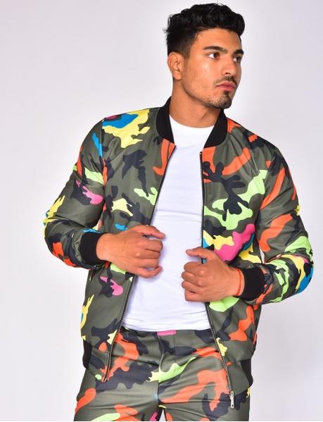 Multi-coloured Camouflage Jacket