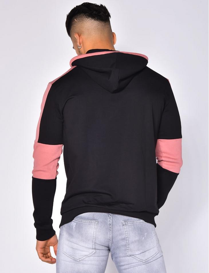 'Hustler' Two-Tone Sweatshirt