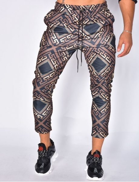 Trousers with Geometrical Pattern