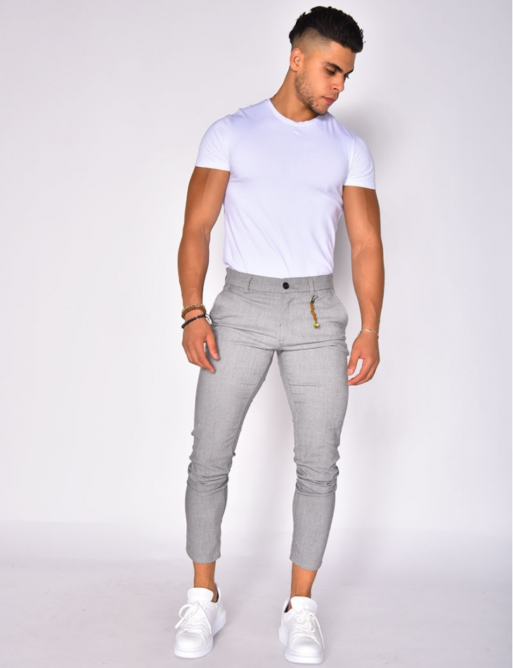 Pantalon chiné à breloque
