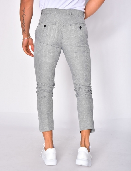 Pantalon à grands carreaux