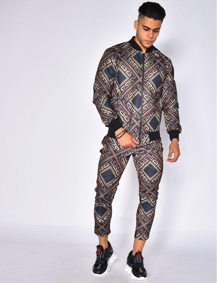 Jacket with Geometrical Pattern
