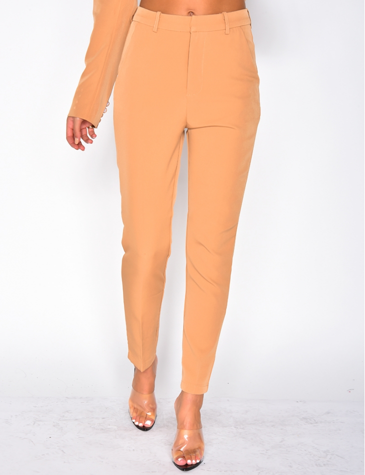 High Waisted Suit Trousers