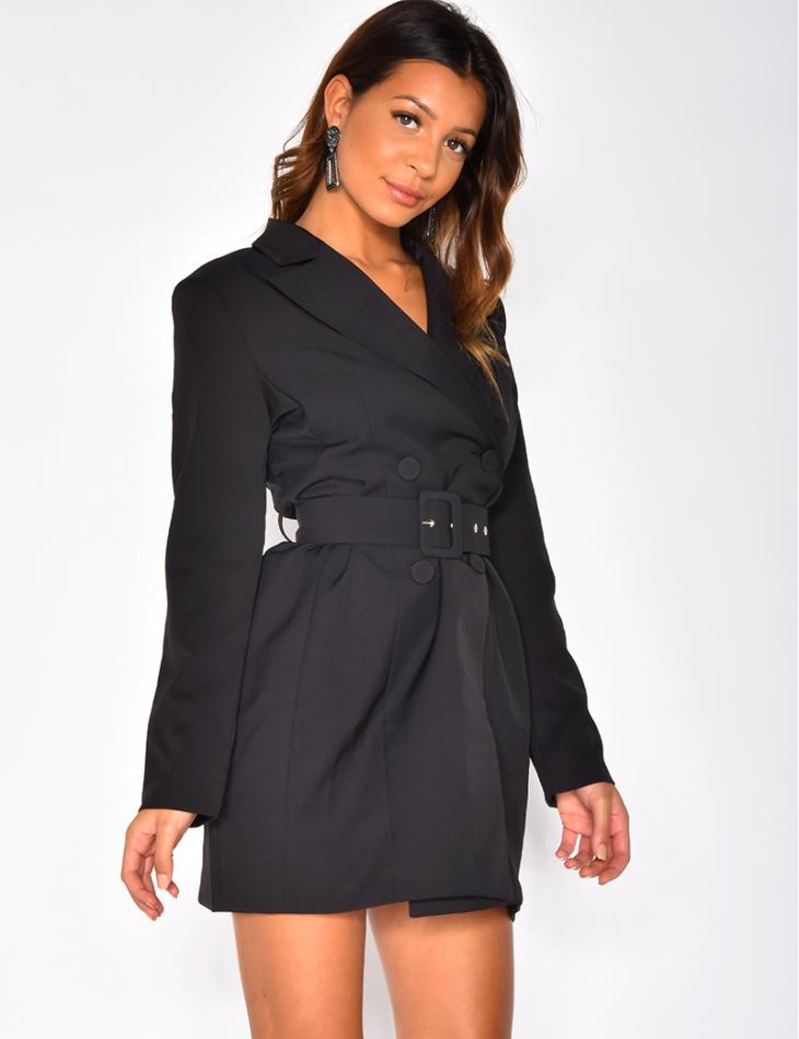 Blazer Dress with Belt