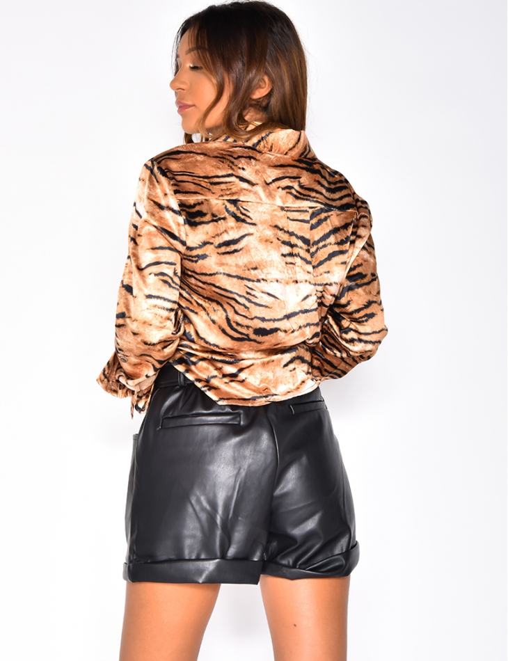 Blouse with Tiger Pattern