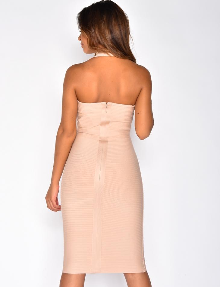 PREMIUM Open Back Bandage Dress