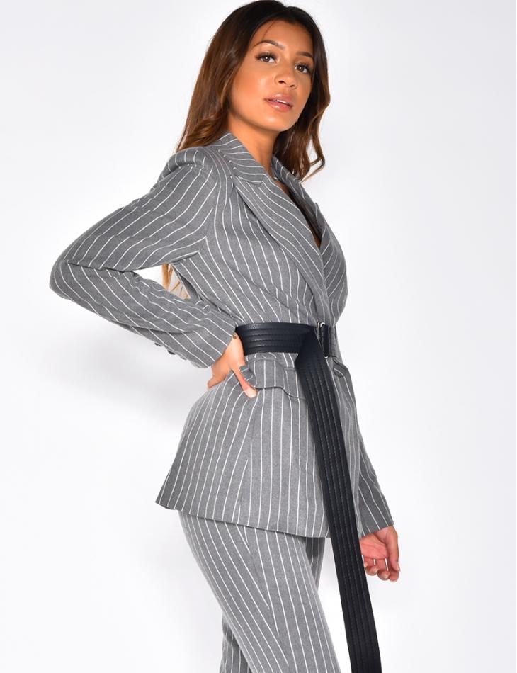 Premium Striped Blazer