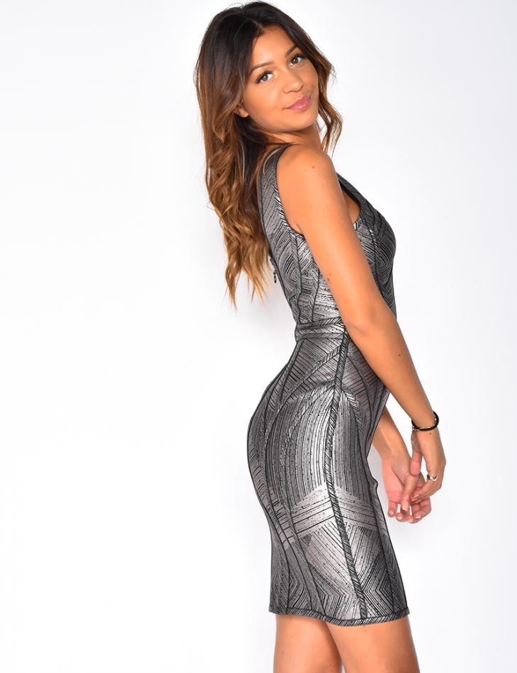 PREMIUM Glittery Bandage Dress